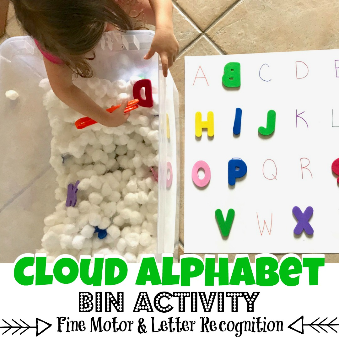 Cloud Alphabet Bin  A Fun Fine Motor  Letter Recognition Activity